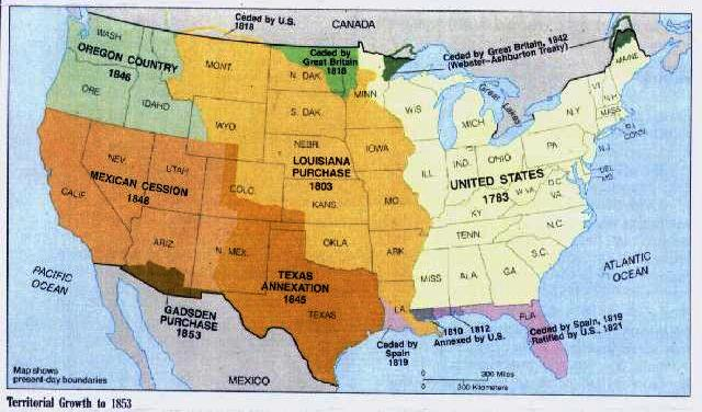 Your History Site Homework Calendar - Us westward expansion purchases maps